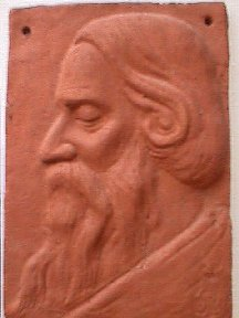 Tagore  in terracotta  artist  Rabindranath Tagore Sketch By Satyajit Ray